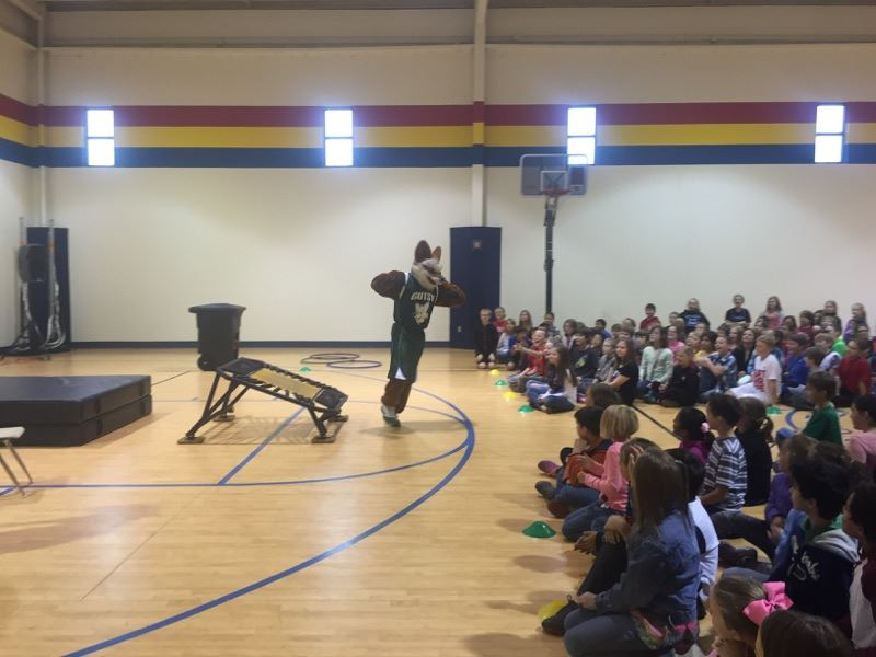 Gutsy the Fox Visits TCE