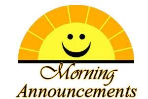 Morning announcement sunshine