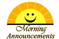 Morning announcement sunshine