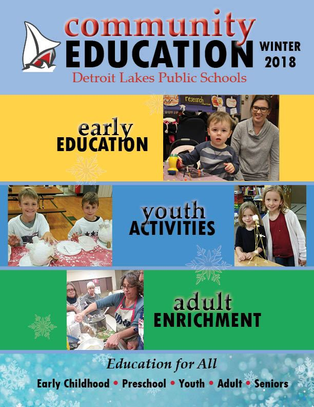Winter 2018 Community Education cover