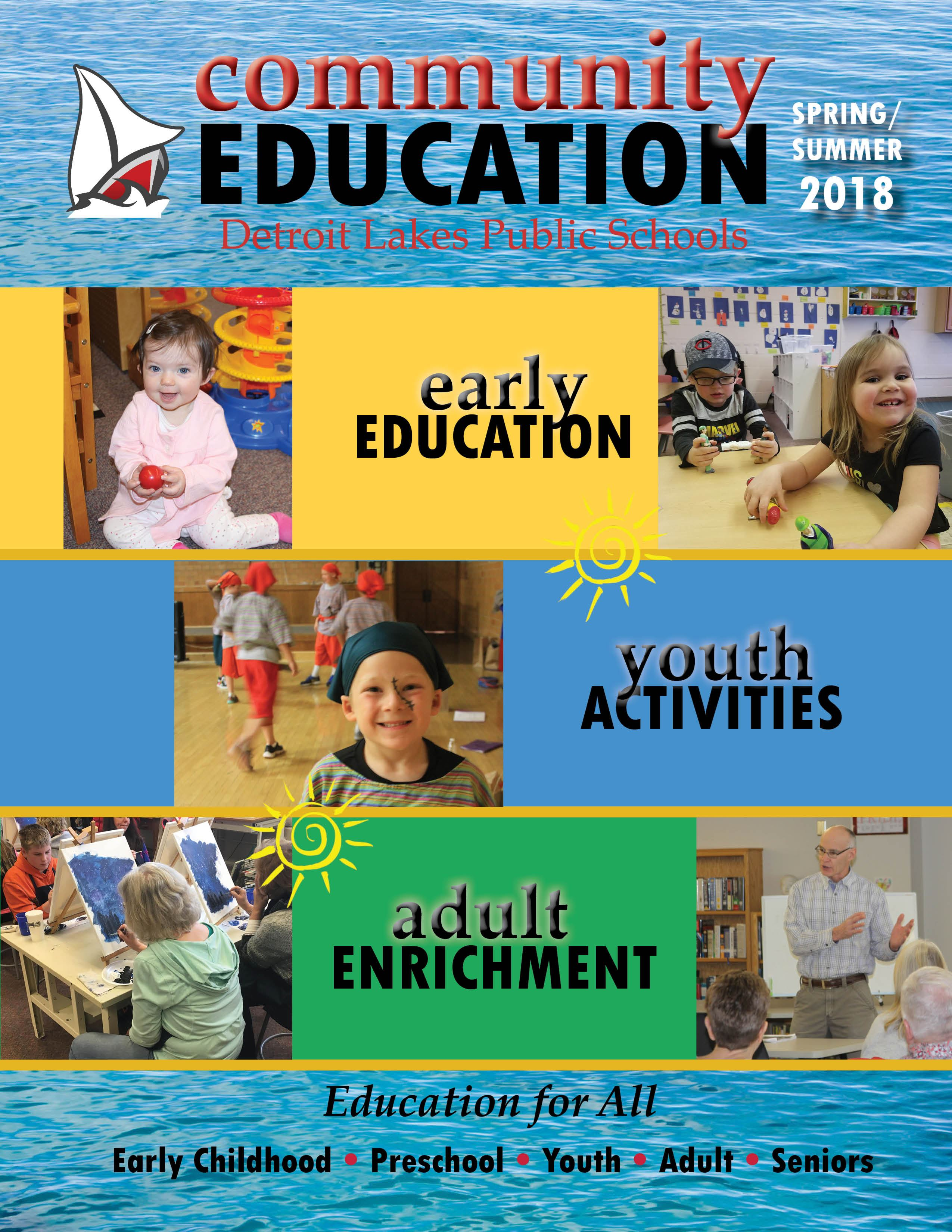 Spring/Summer 2018 Community Education cover
