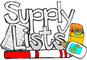 school supply list graphic